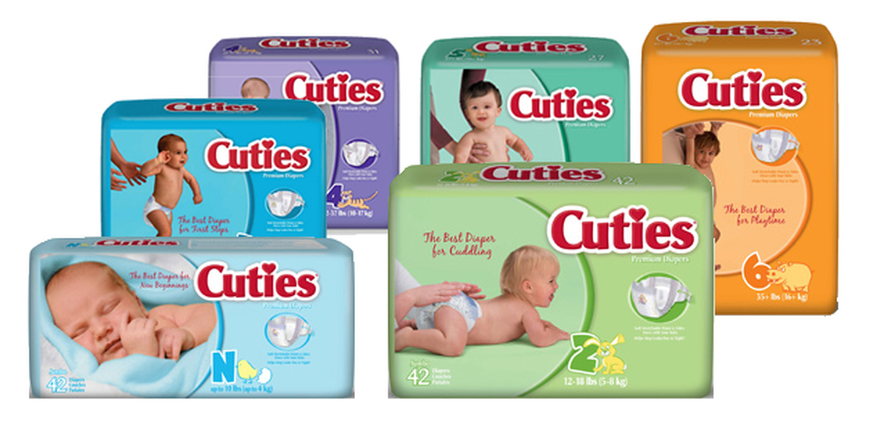 receive free cuties diapers by mail