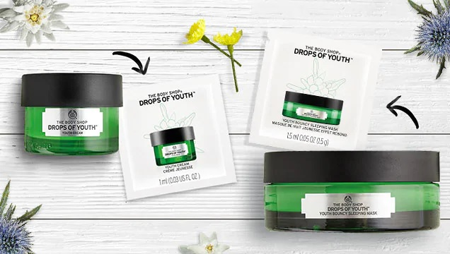 Receive The Body Shop Drops of youths by mail for FREE