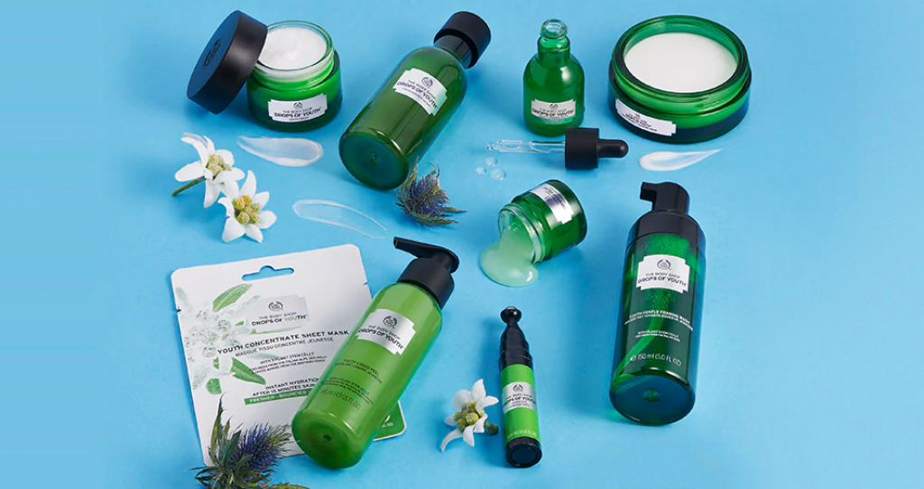 The Body Shop Drops of youths free sample kit