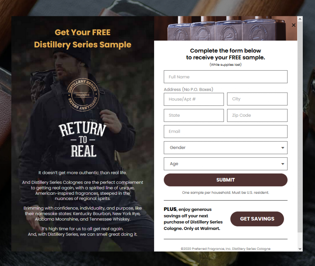 Order your FREE Distillery Series Cologne Sample while supplies last
