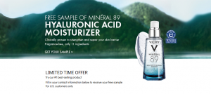 Get a FREE Vichy Mineral 89 Face Moisturizer sample