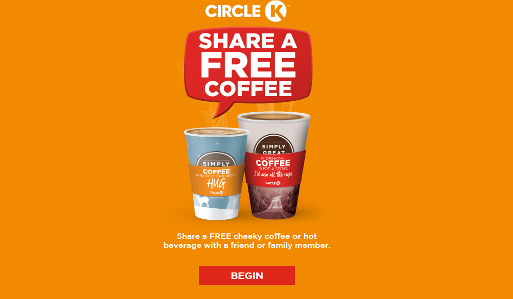 free coffe with circle k