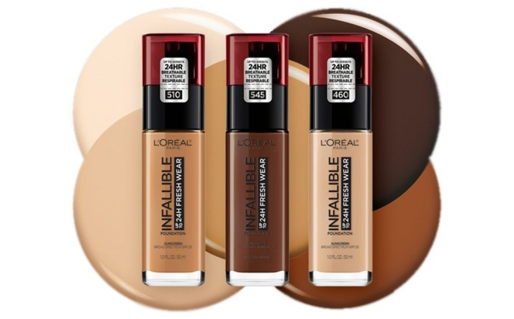 Score free L'Oreal foundation samples by mail in the US