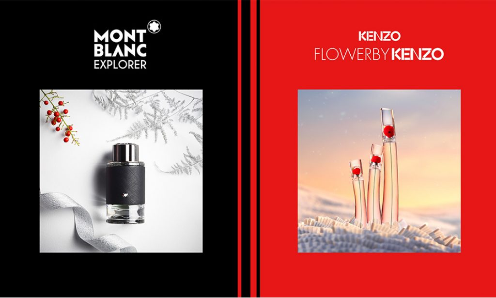 Free perfume samples in the uk of Kenzo Flower & Montblanc Explorer perfume with Boots