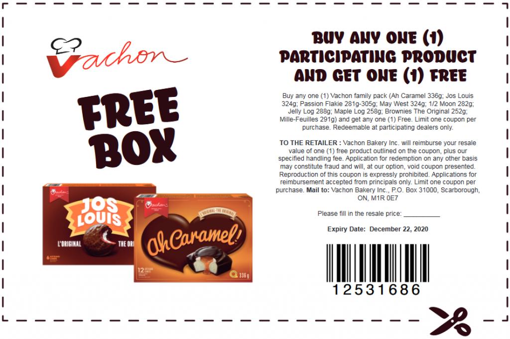 BOGO Vachon coupon Canada