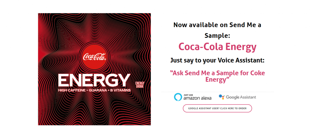 New Coca-Cola Energy Drink with Send me a Sample for UK residents