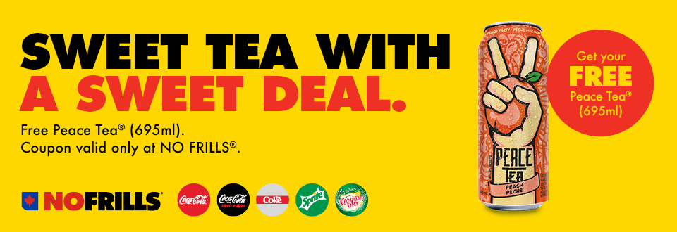 Grab a Free Peace Tea Can at No Frills with this new coupon