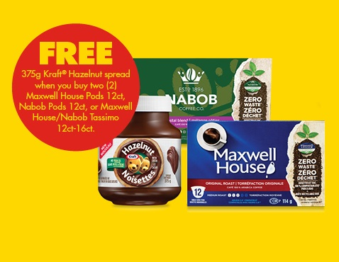 Maxwell house coupons free kraft spread