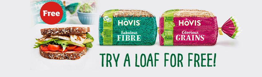 Grab a free loaf of Hovis Bread with your next online order at Sainsburys
