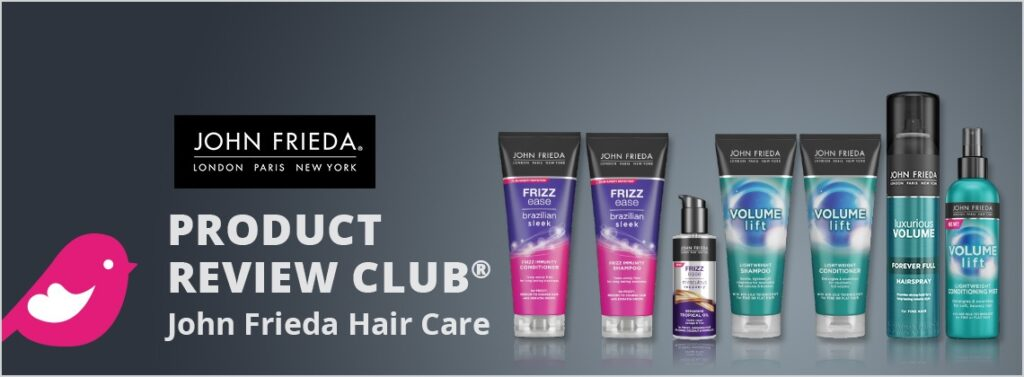 apply to get free john frieda haircare products with chickadvisor review panel