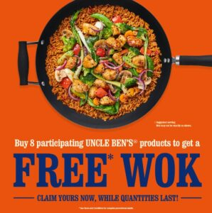 free uncle bens wok promotion (with purchase)