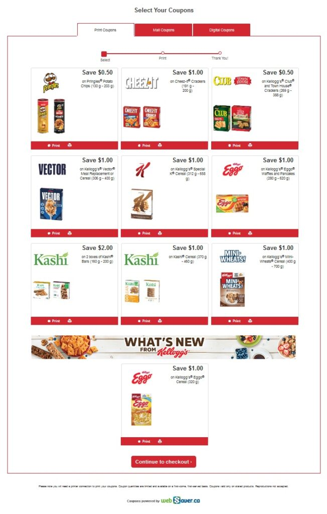 Kelloggs Coupons Canada to save money in 2021