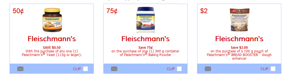 Available Fleischmanns Print Coupons Canada from MakeGood