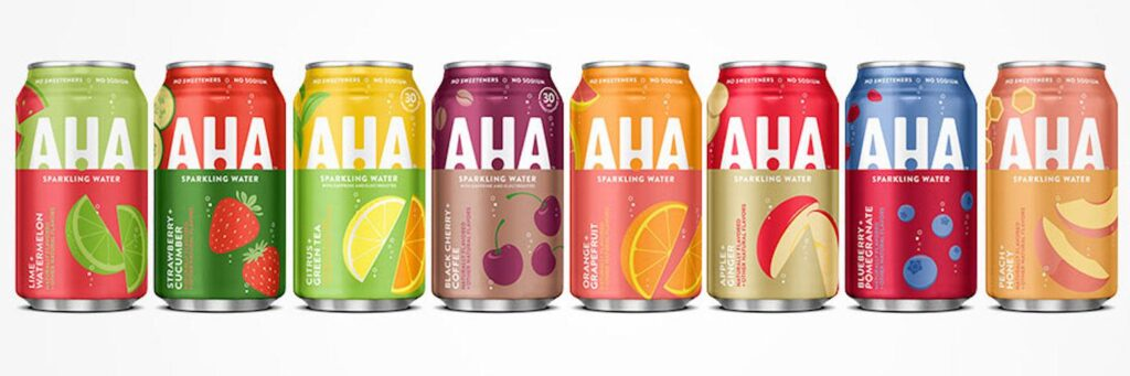 Free AHA Sparkling Water sample