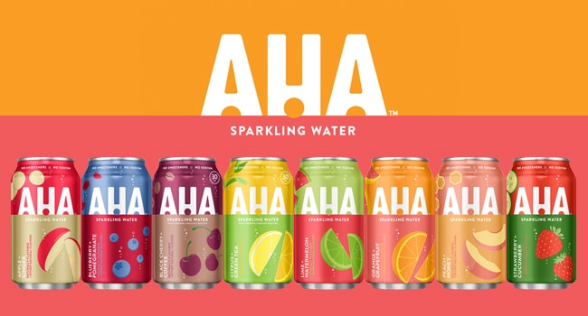 free aha sparkling water
